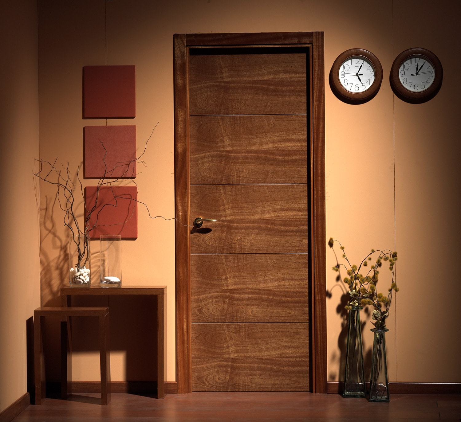 High quality veneer wood flush door manufacturer for Solid flush door